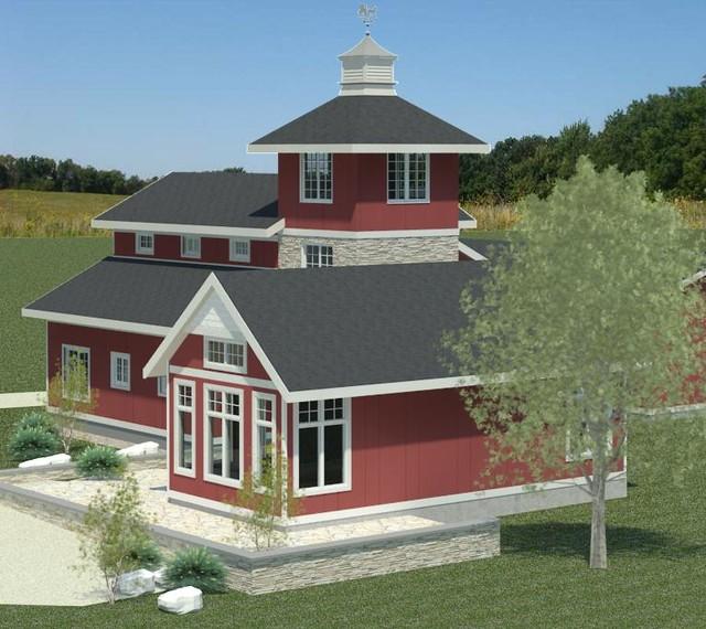 Farmhouse Additions: Highland Barn House Addition Version 3