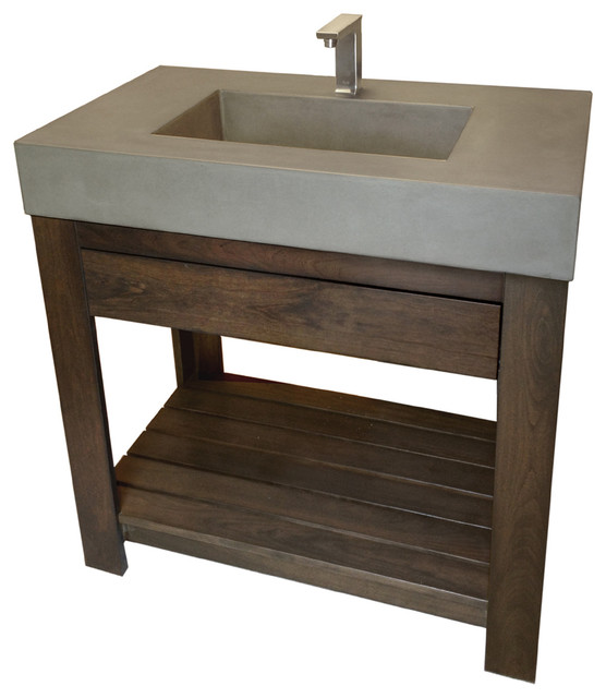 Trueform Concrete 36 Quot Lavare Novo Concrete Sink With