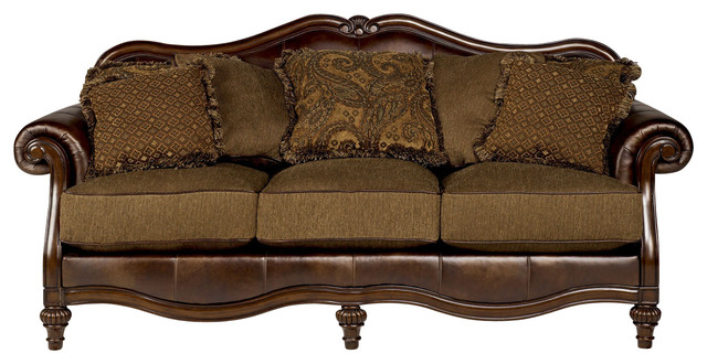 Ashley Claremore Sofa Antique Traditional Sofas By Bedroom Furniture Discounts