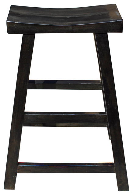 Groovy Simple Distressed Semi Gloss Black Tall Wood Stool Bar Stool Hcs4181 Onthecornerstone Fun Painted Chair Ideas Images Onthecornerstoneorg