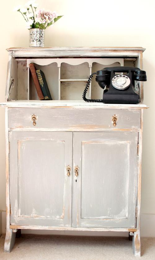 Vintage Bureau eclectic home office