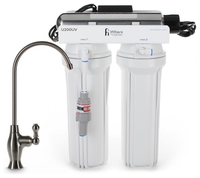 Uv Drinking Water Filtration Purifier System 3 Stage Filter & Sterilize Usa Made.