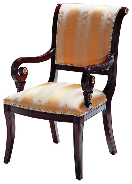Old World Chair With Arms