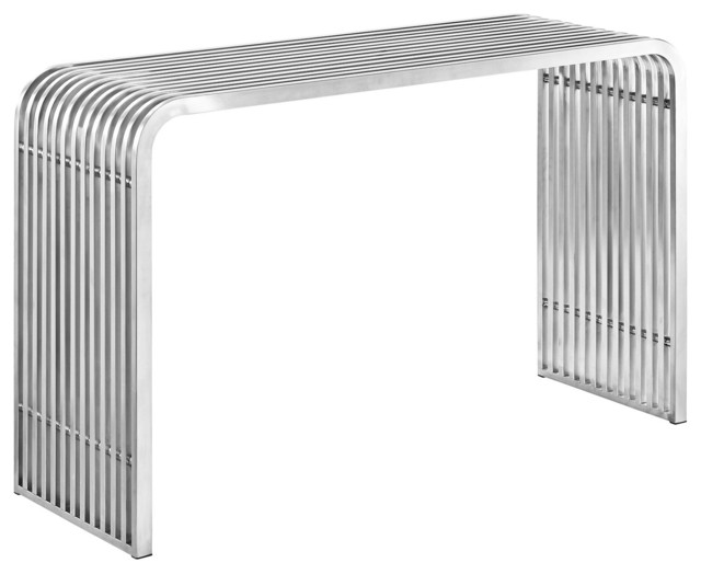 Pipe Stainless Steel Console Table Silver.