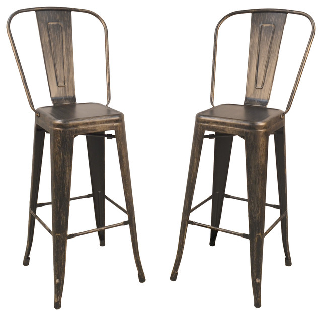Adeline 30 Barstool Set Of 2 Industrial Bar Stools And Counter
