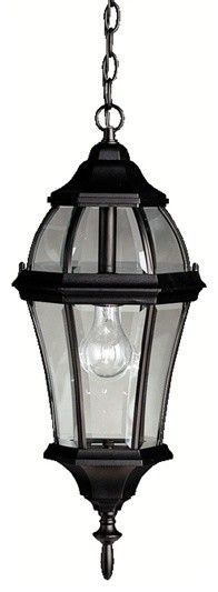 Kichler Lighting 9892bk Townhouse Traditional Outdoor Hanging Pendant Light.