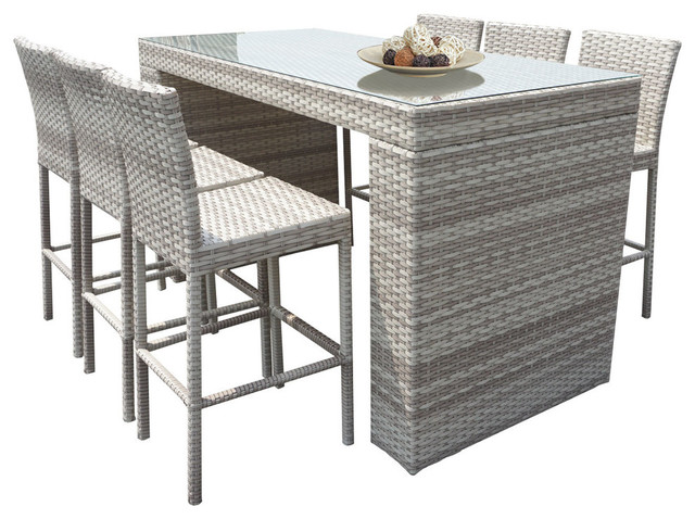 Fairmont Patio Furniture.Fairmont Bar Table Set With Barstools 7 Piece Outdoor Wicker Patio Furniture