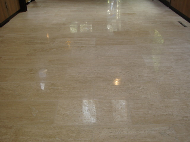 Ivoria 12x24 Vein Cut Travertine Flooring Project Traditional