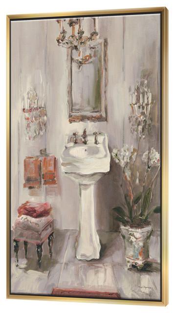 Designart French Bath La Baignoire I Bathroom Framed Artwork Contemporary Prints And Posters By Designart