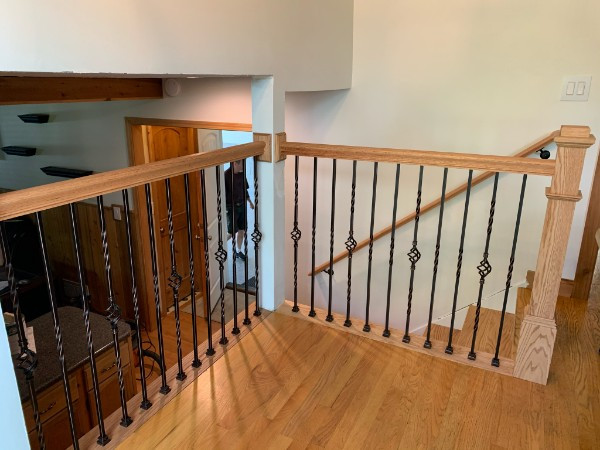 Red oak stained to match Alder trim