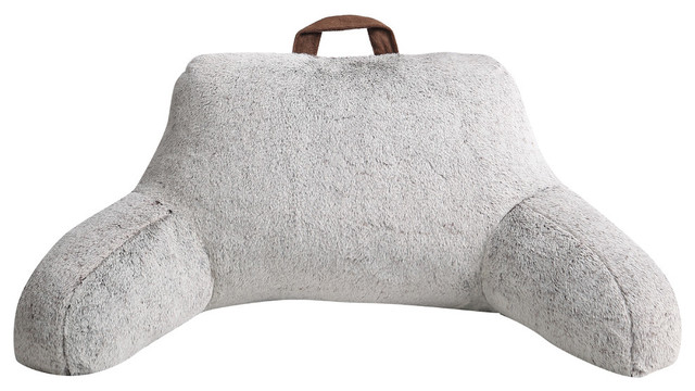 MHF Home Millburn Faux Fur Backrest, Taupe