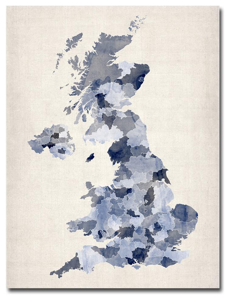 print home decor Cambridge Britain gift poster Watercolour picture