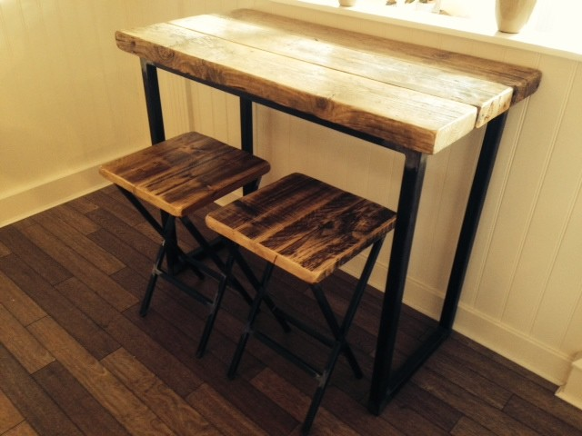 Attrayant Industrial Mill Reclaimed Wood Breakfast Bar/Console Table  Industrial Kitchen