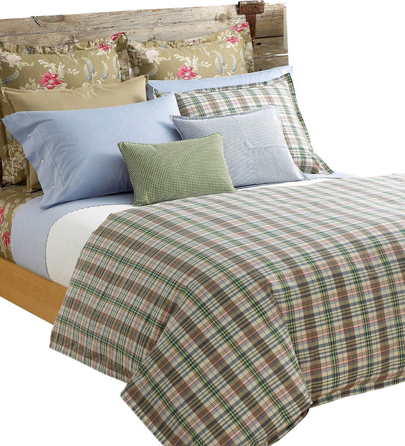 Ralph Lauren Boathouse Madras Plaid 10pc King Duvet Comforter