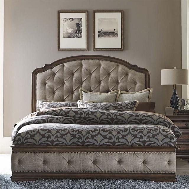 Liberty Amelia King Upholstered Panel Bed