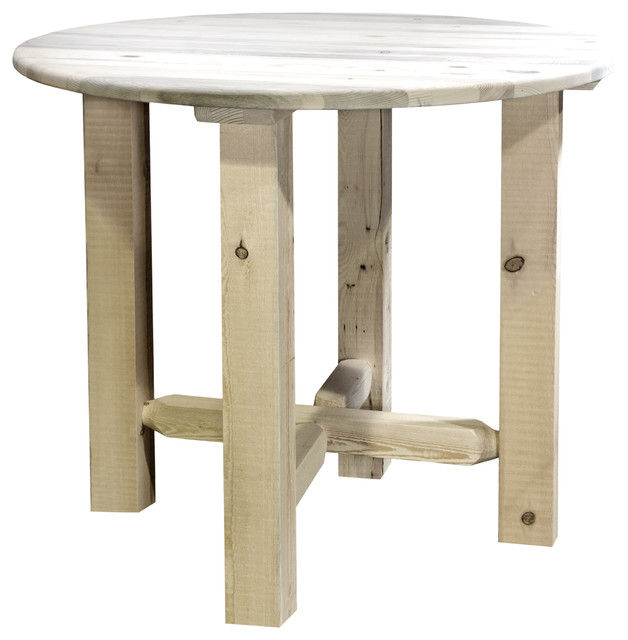 Homestead Counter Height Bistro Table, Clear Lacquer Finish