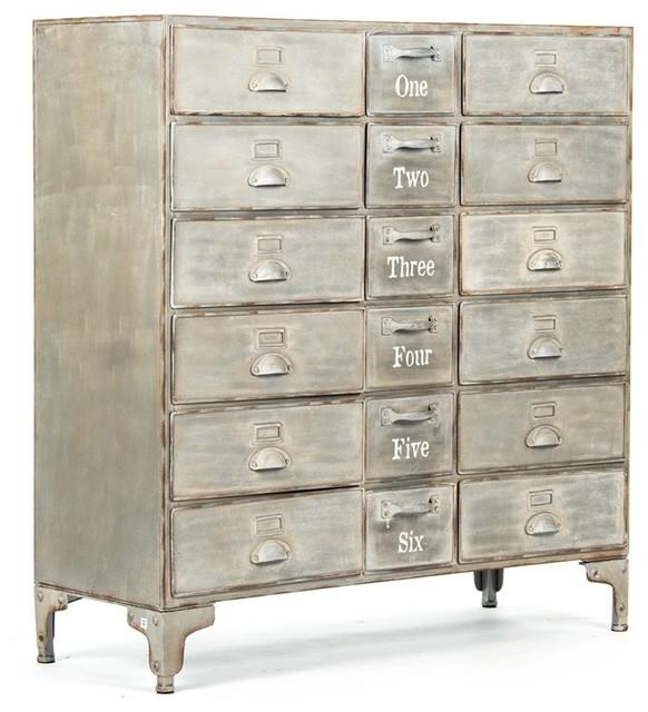 Apothecary Metal Cabinet, Oscar, Light Finish.