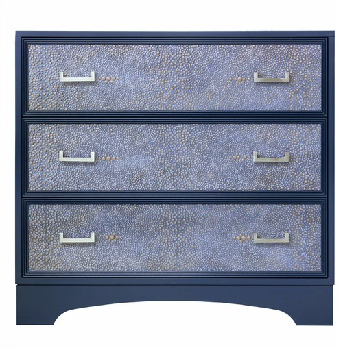 Facets Modern 36 Chest of Drawers, Denim