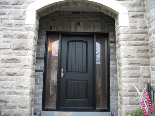 Here is an ex&le of a darker door with a darker handle....I like this too. & Dark hardware for dark front door?
