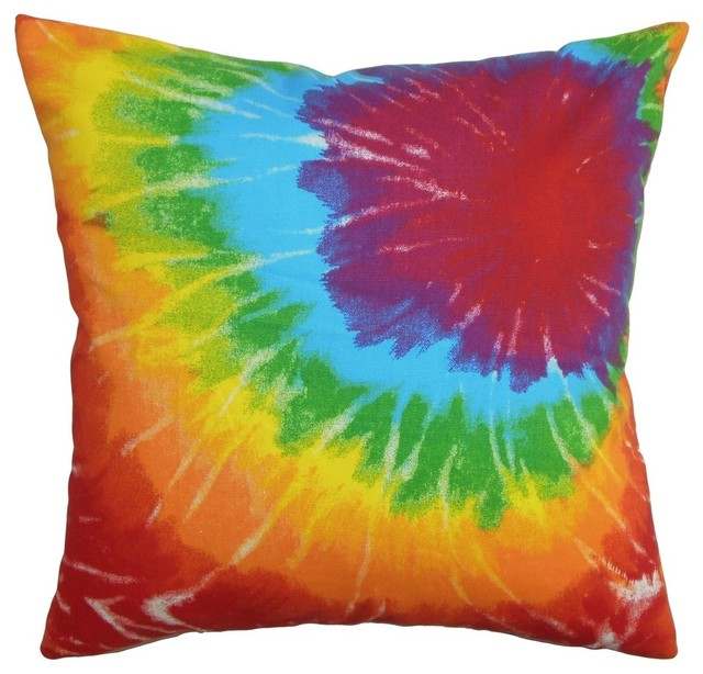 The Pillow Collection Inc Betrys Tie Dye Pillow Green  : contemporary decorative pillows from www.houzz.com size 640 x 614 jpeg 88kB