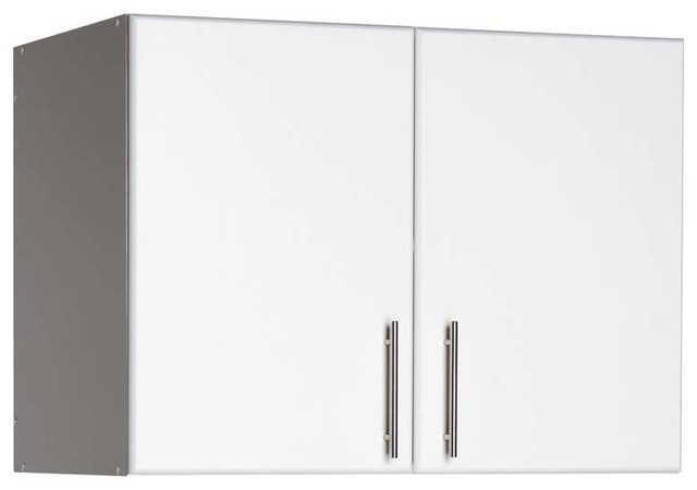 "Elite 16"" Stackable Wall Cabinet, White, 32""."