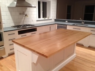 Solid Maple Butcher Block Island Top · More Info