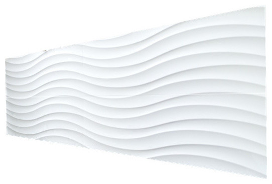 Wavy Surface Ceramic Wall Tile White Matte 1 Pallet Traditional