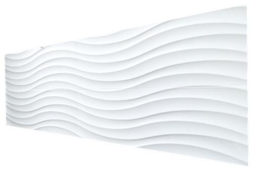 Matte Wavy Pattern Ceramic Wall Tile