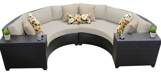 Barbados 4 Piece Outdoor Wicker Patio Furniture Set 04c