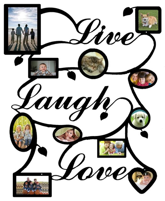 Live Laugh Love Picture Frame- Black - Traditional - Picture Frames ...