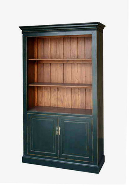 Black Bookcase Storage Tall Display Cabinet