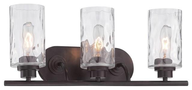 Designers Fountain Gramercy Park Lighting Fixture Old English Bronze 3 Light Transitional