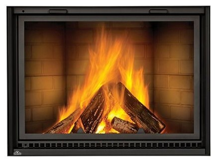 Nz8000 Linear Wood Burning Fireplace With Traditional Brick Kit Indoor Fireplaces By Shop