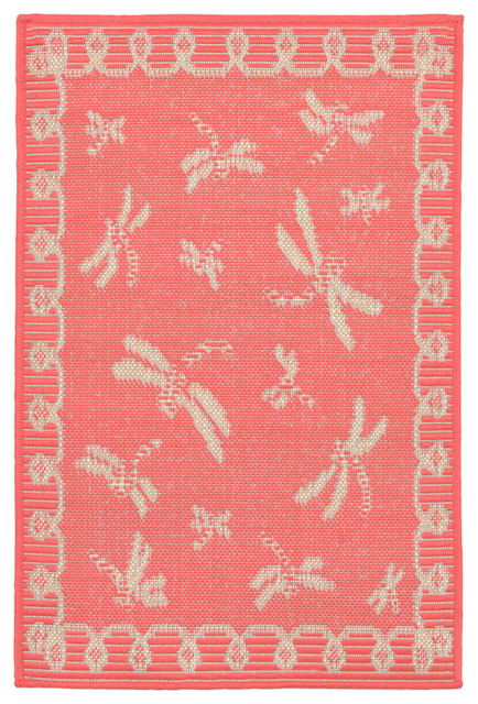 Liora Manne Terrace Dragonfly Rug Contemporary Outdoor Rugs By