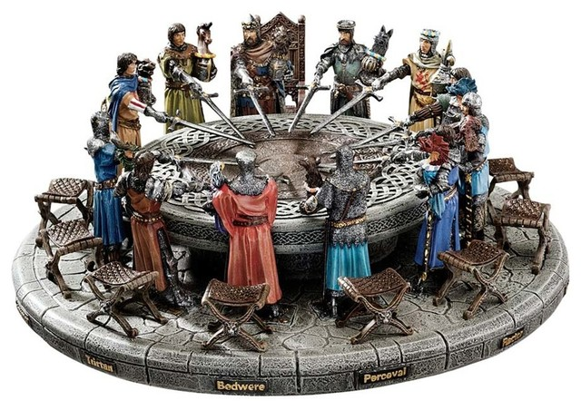 King Arthur and the Knights of the Round Table Sculptural Set