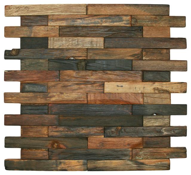 Cnk Tile 12 Quot X12 Quot Reclaimed Boat Wood Tile Interlocking