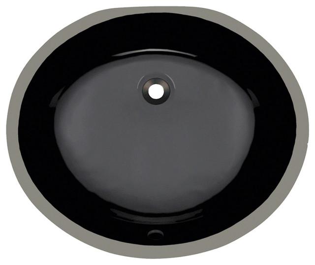 14 X17 X8 Porcelain Oval Undermount Bathroom Vanity Sink Black Contemporary Bathroom Sinks By Allora Usa Houzz
