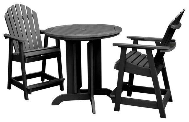 Phenomenal Hamilton 3 Piece Round Counter Height Dining Set Black Ibusinesslaw Wood Chair Design Ideas Ibusinesslaworg
