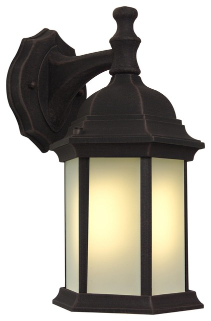 Exteriors Cast Aluminum Hex Style Energy Star Outdoor Wall Sconce With Photocell