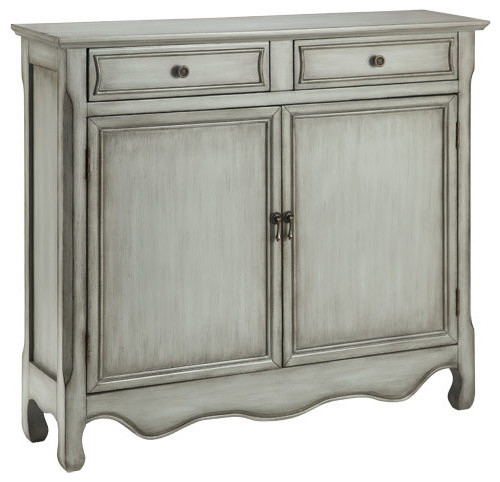 Claridon Cupboard Two Door, Two Drawer in Vintage Cream