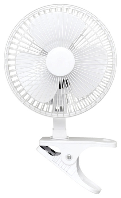 "Optimus Convertible Personal Clip-On/table Fan, 6""."