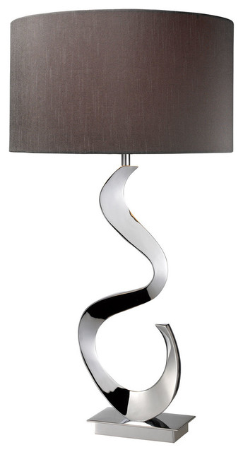 30 Morgan Solid Br Table Lamp Chrome