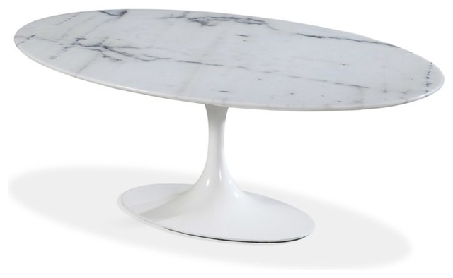 wholesale dealer 1b0fb 24924 Oval Marble Tulip Table 66''