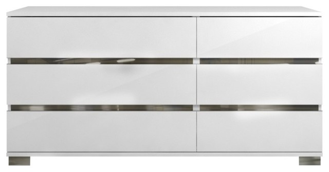 Spacious Double Dresser With 6-Drawers White.