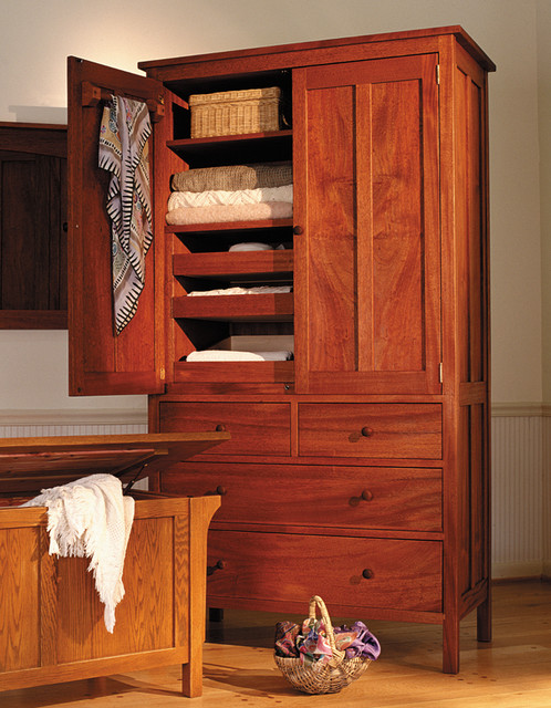 Craftsman 5 Drawer Armoire In Cherry Amp Reviews Houzz