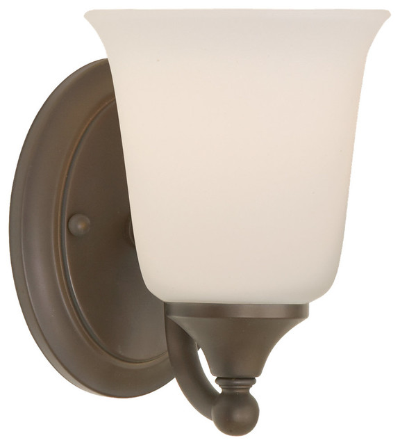 Feiss VS10501-ORB Claridge 1 Light Oil Rubbed Bronze Bathroom Wall Sconce - Transitional ...