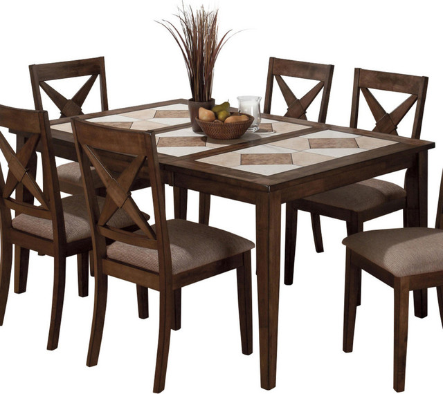 tile top dining table with butterfly leaf transitional folding tables
