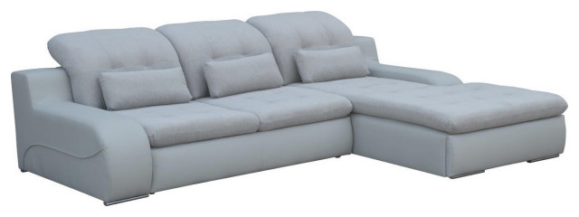 BAVERO Sectional Sleeper Sofa, Right Corner