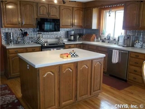 I want to avoid the country look as much as possible even though I\u0027ll have to live with the cathedral style for now. What do ya\u0027ll think any suggestions ... & The ol\u0027 oak cabinets I\u0027m not willing to paint yet problem kurilladesign.com