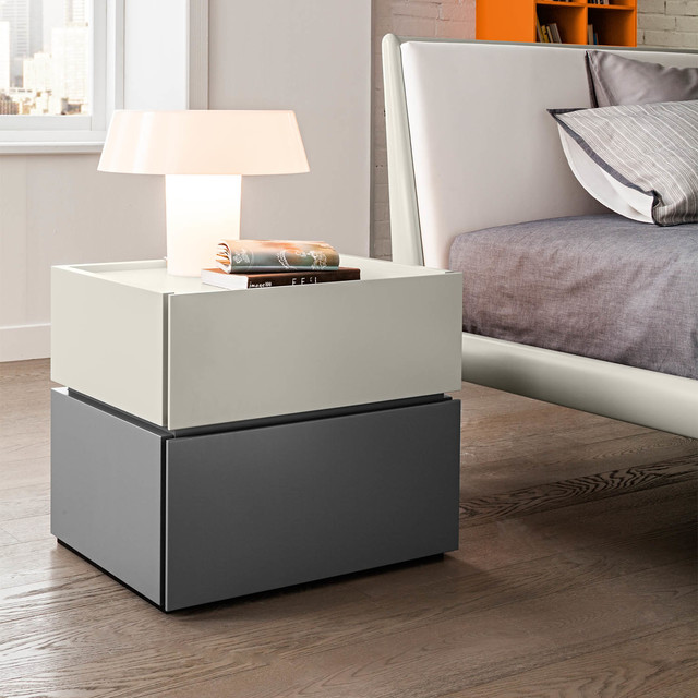 39 maverik 39 modern luxury bedside cabinet with drawers by for Modern bedside tables nightstands